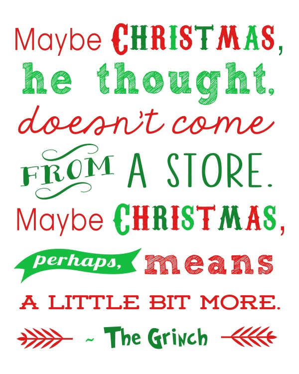 Grinch Printable from Happiness is Homemade